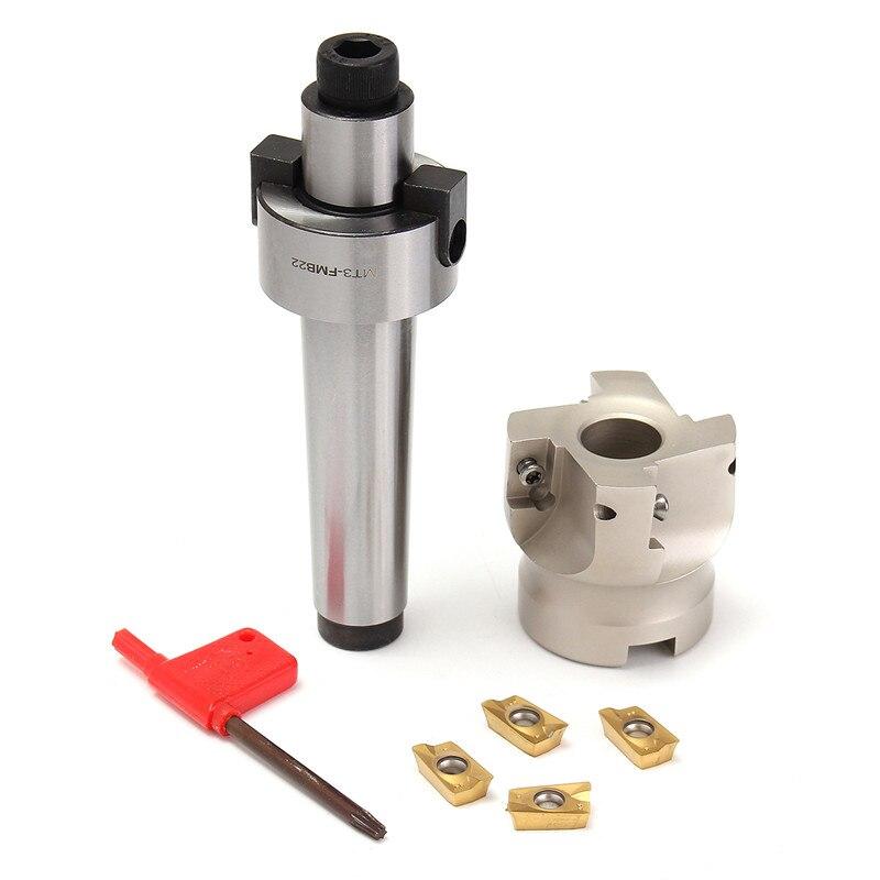 FMB22 MT3 Shank 400R 50mm Face CNC End Milling Cutter 4 APMT1604 Carbide Inserts Set Drawbar Machine Accessories Mill Cutter